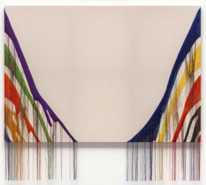 Abstract Weave / Morris Louis Delta Kappa 1960 SS02 by Kyungah Ham contemporary artwork mixed media, textile, textile