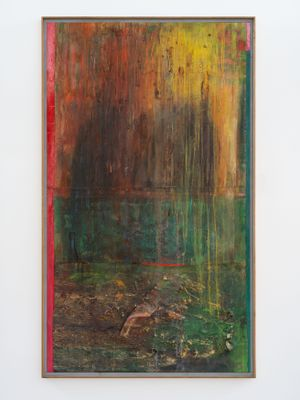 Pondlife (After Millais) by Frank Bowling contemporary artwork