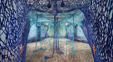 Contemporary art exhibition, Ernesto Neto, One Day We Were All Fish and The Earth's Belly at Goodman Gallery, Johannesburg