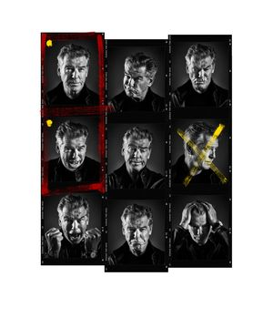 Pierce Brosnan Contact Sheet by Andy Gotts contemporary artwork photography, print