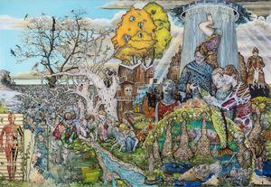 IV. Die Reifezeit(aus der Reihe: 'Die großen Prozesse') by Wolf Hamm contemporary artwork