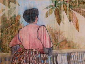 The Bridge by Pamela Phatsimo Sunstrum contemporary artwork painting, drawing