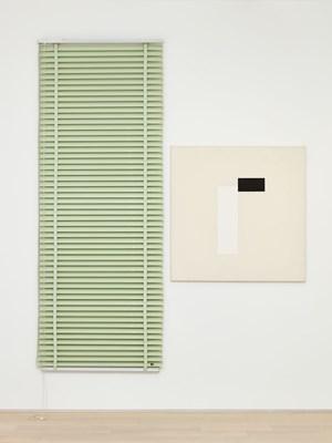 Blind Venitian Piece (FS) by John M Armleder contemporary artwork