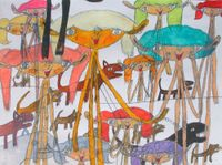 Ohne Titel [Untitled] by Shintaro Miyake contemporary artwork drawing
