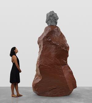 gray brown nun by Ugo Rondinone contemporary artwork