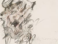 Running Woman by Willem de Kooning contemporary artwork works on paper, drawing