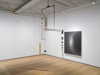 Exhibition view: Matthias Bitzer,Sequences from a Volatile Now, Almine Rech Gallery, London (17 April–19 May 2018). Courtesy Almine Rech Gallery. Photo: Peter Mallet.