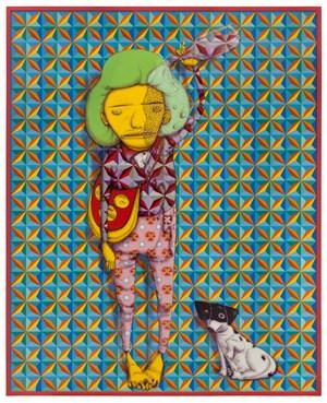O Banho com Agua da Chuva (Rain shower) by OSGEMEOS contemporary artwork