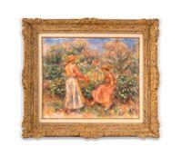 Deux femmes dans le jardin de Cagnes by Pierre-Auguste Renoir contemporary artwork painting