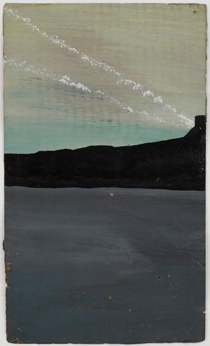 Untitled (Mountain, sea, and white lines of sunshine) by Frank Walter contemporary artwork