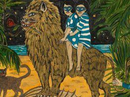"Marcel Dzama<br><em>Who Loves the Sun</em><br><span class=""oc-gallery"">David Zwirner</span>"