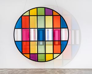 Photo-souvenir: Tondo NR5 by Daniel Buren contemporary artwork
