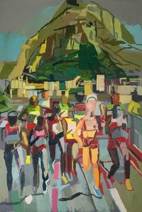 Olympic Runners #6 by Clintel Steed contemporary artwork painting