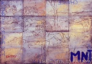 Nature Speaks:  FW by Imants Tillers contemporary artwork