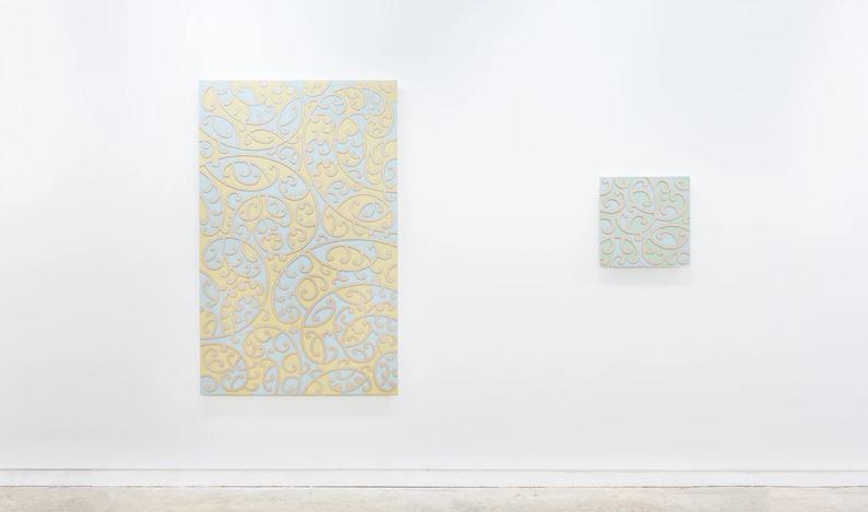 Exhibition view:Ngataiharuru Taepa, Kia Āio Te Whenua, Page Galleries, Wellington (20 August–12 September 2020). Courtesy PAGE Galleries.
