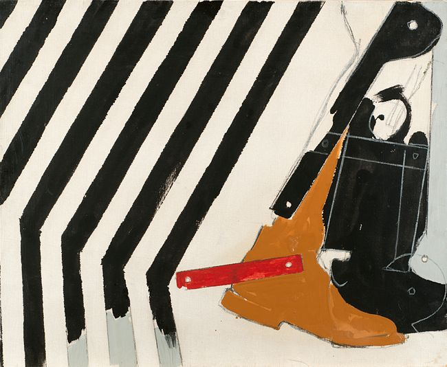 Dopo le Strisce (After the Stripes) by Mario Schifano contemporary artwork