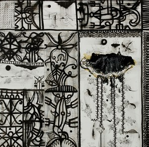 Upper horizon by John Pule contemporary artwork