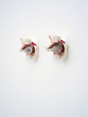 Orbits (Cast Dandelion, Petrified Sequoia Wood) by Zac Langdon-Pole contemporary artwork