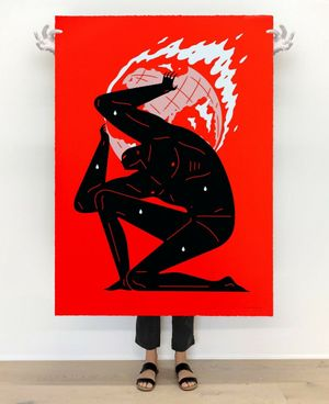 World on Fire (Red), 2021 by Cleon Peterson contemporary artwork