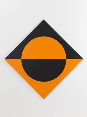 Black Orange Circle by Leon Polk Smith contemporary artwork
