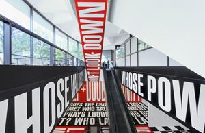 Belief + Doubt by Barbara Kruger contemporary artwork