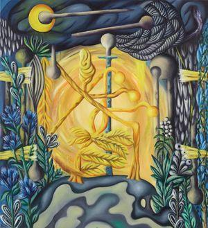 Falsche Nacht (Sommer) by Hartmut Neumann contemporary artwork