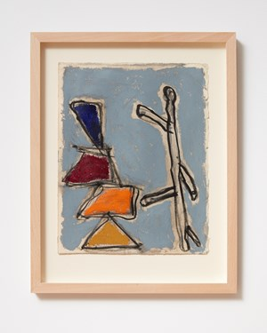 Ladder and Step Series #9 by Basil Beattie contemporary artwork