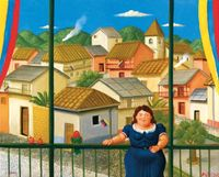 National Holiday by Fernando Botero contemporary artwork painting