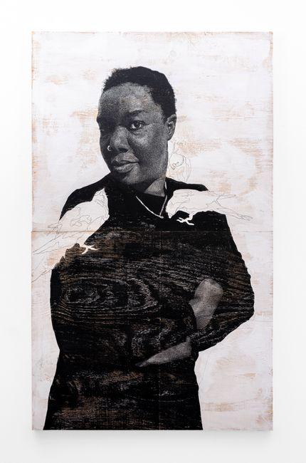 """""""Luyanda, teti uletina inama mpaka nempela."""" (Luyanda, you cant be afraid of animals forever.) by Luyanda Zindela contemporary artwork"""