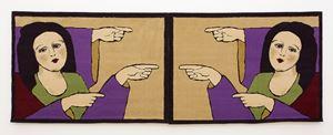 "Carpets on the theme of ""Promised Paintings"" by Gülsün Karamustafa contemporary artwork"