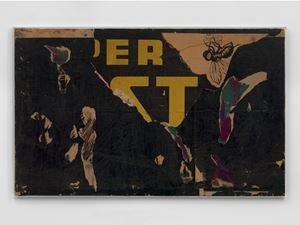 Senza titolo (Untitled) by Mimmo Rotella contemporary artwork mixed media