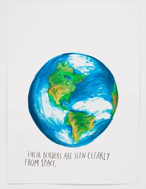 No Title (Their borders are…) by Raymond Pettibon contemporary artwork