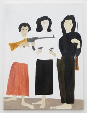 Zohra Drif, Djamila Bouhired and Hassiba Ben Bouali by Kate Boxer contemporary artwork