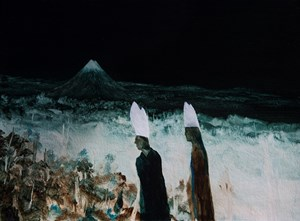 Ritual of the Snowy Peak Religion by John Walsh contemporary artwork