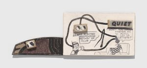Untitled (Won't You Have to Answer an Awful Lot of Letters?) by Ray Johnson contemporary artwork