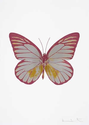 The Souls I - Silver Gloss / Oriental Gold / Loganberry Pink by Damien Hirst contemporary artwork