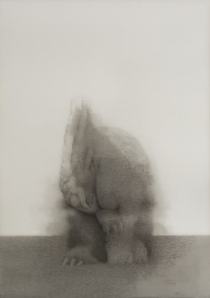 Hand-licking Rabbit No. 2 by Shao Fan contemporary artwork