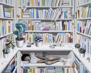 Library by Hong Kyong Tack contemporary artwork