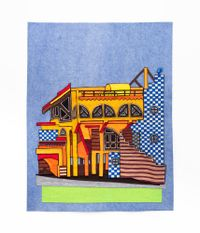 Strandfontein Pavilion Study by Jody Paulsen contemporary artwork textile
