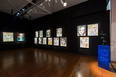 Exhibition view: Del Kathryn Barton, soft river yr girl, new works on paper, Roslyn Oxley9 Gallery, Sydney (6 October–28 October 2017). Courtesy Roslyn Oxley9 Gallery.