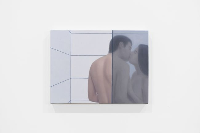 Shower Kiss in Grey by Ridley Howard contemporary artwork