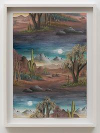 Desert Moon by Neil Raitt contemporary artwork painting, works on paper