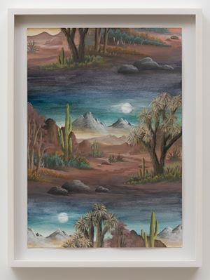 Desert Moon by Neil Raitt contemporary artwork