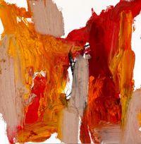 Gladioli by Amir Guberstein contemporary artwork painting, works on paper