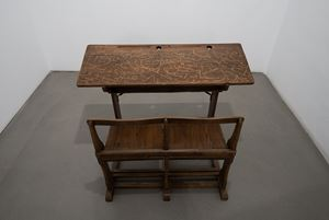 A School Desk by Nicène Kossentini contemporary artwork