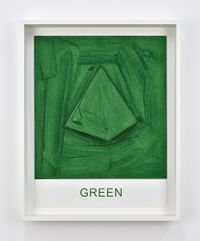 Eight Colorful Inside Jobs: Green by John Baldessari contemporary artwork works on paper, print