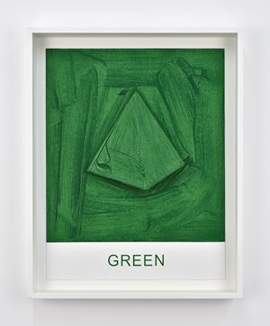 Eight Colorful Inside Jobs: Green by John Baldessari contemporary artwork