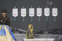 Freud, Fish and Butterfly by Wang Haiyang contemporary artwork moving image