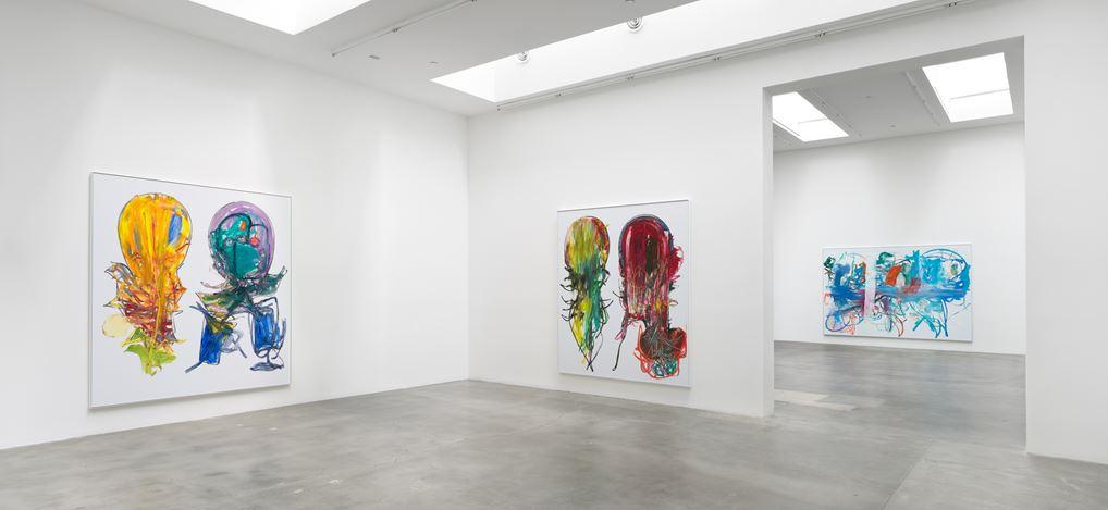 Exhibition view: Aaron Garber-Maikovska,4 from 3 dancers, Blum & Poe, Los Angeles(12 September–24 October 2020). Courtesy Blum & Poe, Los Angeles/New York/Tokyo.