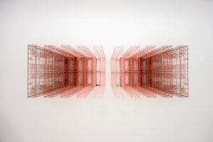 Ambiguous wall- Symmetry R287 1;3 by Byung Joo Kim contemporary artwork